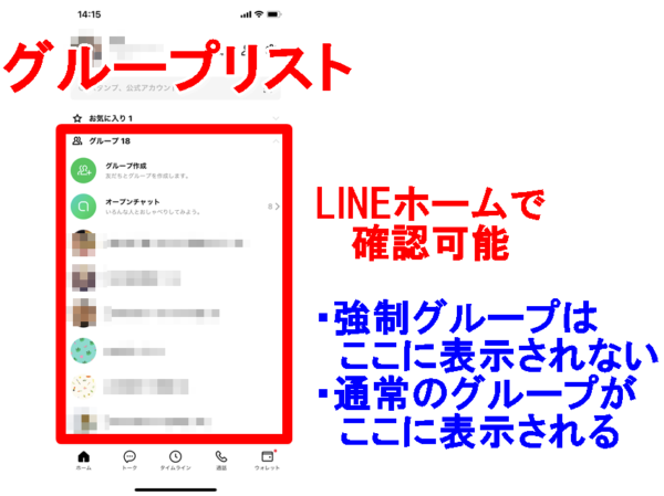 LINE グループリスト
