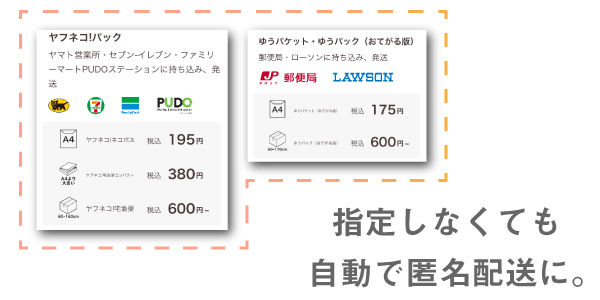 PayPayフリマは匿名配送が標準