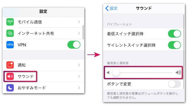 iPhoneでLINEの着信音や通知音を調節する方法