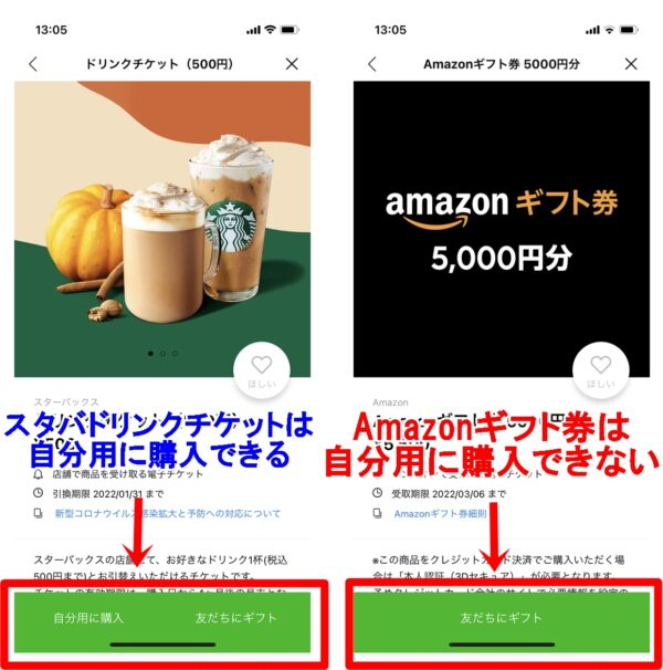 LINEギフト Amazonギフト券