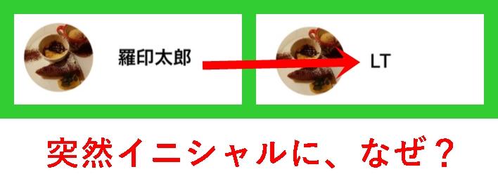 LINE登録名 イニシャル