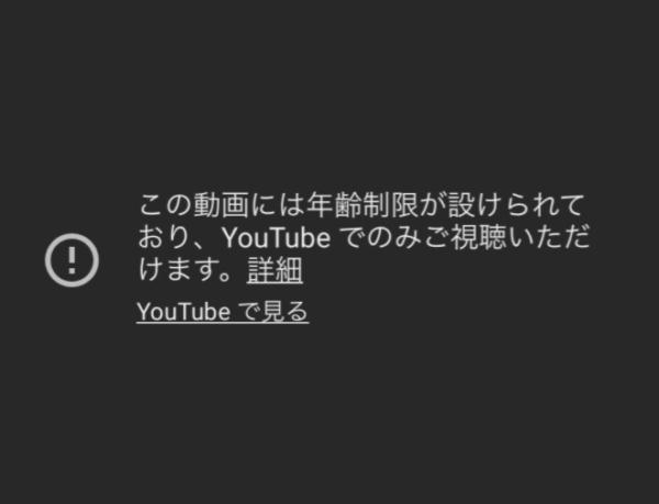 youtube 年齢制限