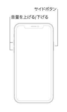 iPhone X、iPhone XS、iPhone XR、iPhone 11、またはiPhone 12を強制的に再起動する