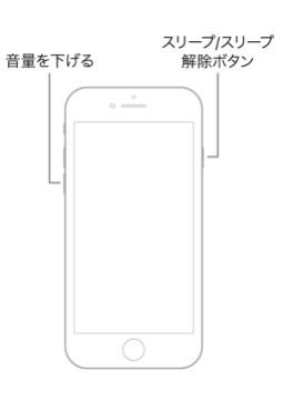 iPhone 7を強制的に再起動する