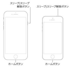 iPhone 6sまたはiPhone SE(第1世代)を強制的に再起動する