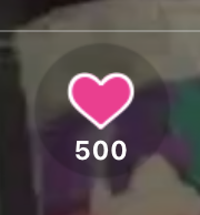 LINE LIVEハート500個